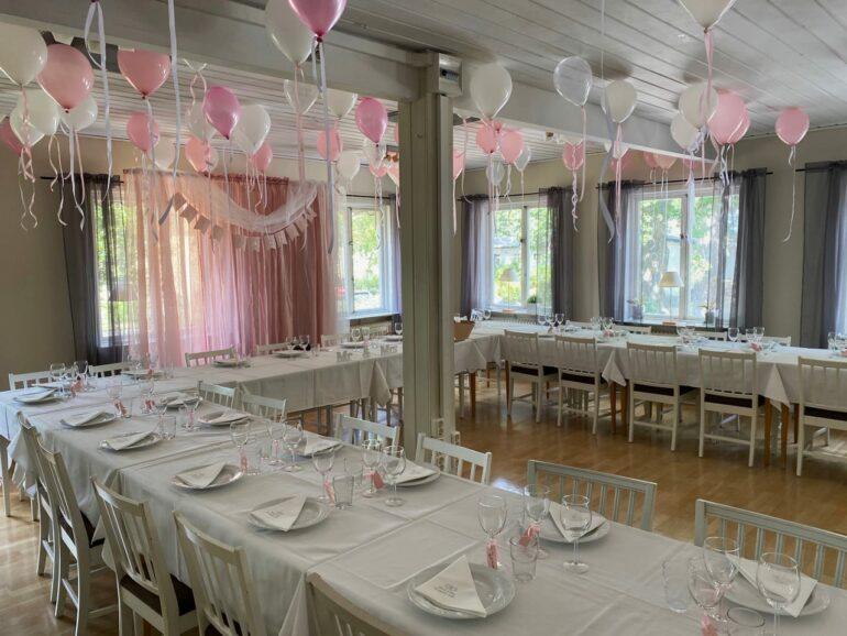 Dukat för brölloppsfesten
